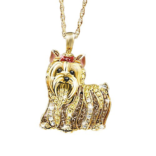 'Best In Show' Yorkie Dog Swarovski® Crystal Pendant