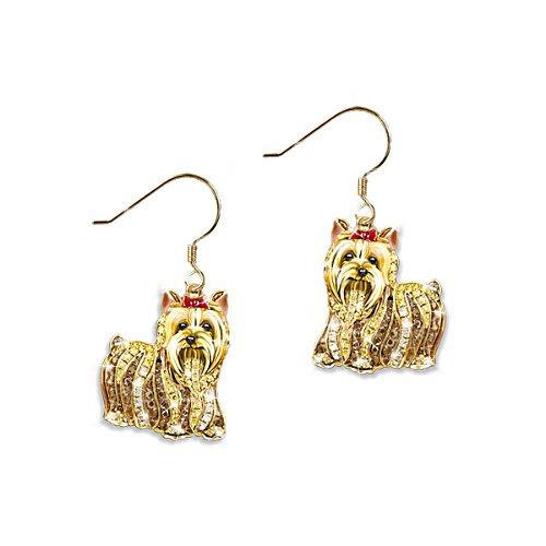 'Best In Show' Yorkie Dog Swarovski® Crystal Earrings