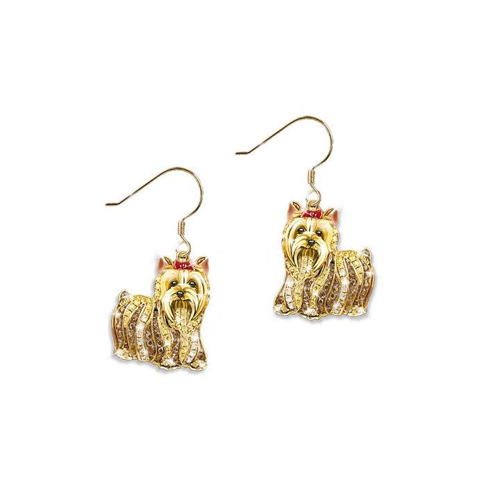 108cccb5e 'Best In Show' Yorkie Dog Swarovski® Crystal Earrings
