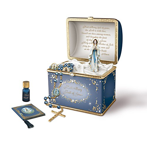 'Our Lady' Musical Porcelain Prayer Box