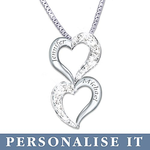 'Loving Hearts' Personalised Diamond Pendant
