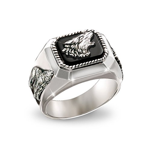 'The Call Of The Wild' Wolf Onyx Ring