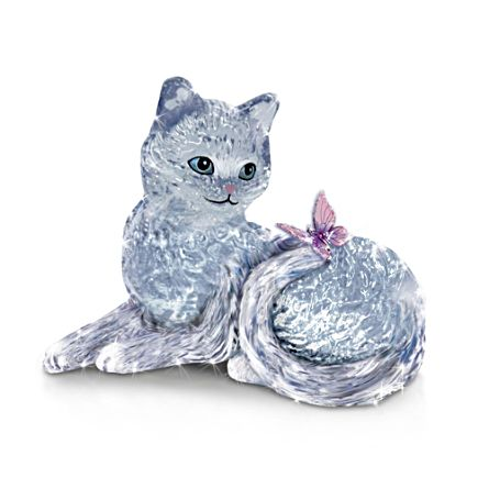 'Smitten Kitten' Glass Figurine