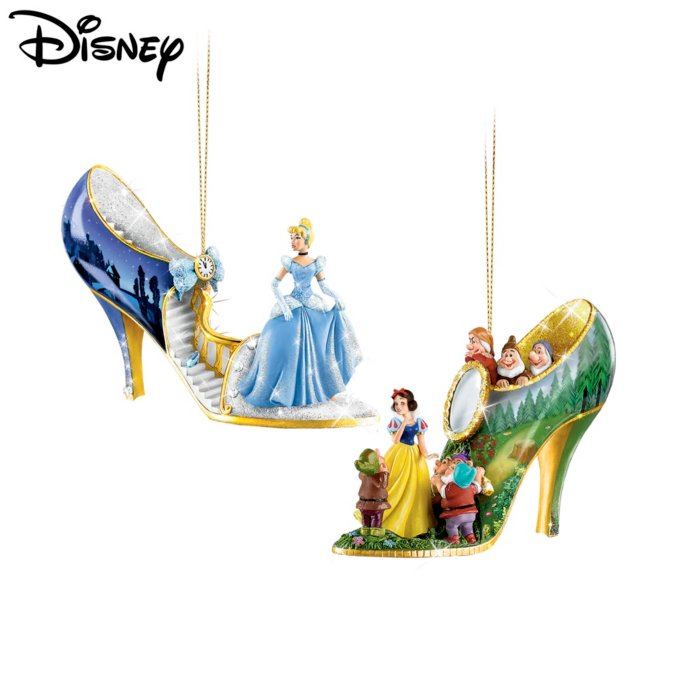 Disney Once Upon A Slipper Christmas Ornament Set