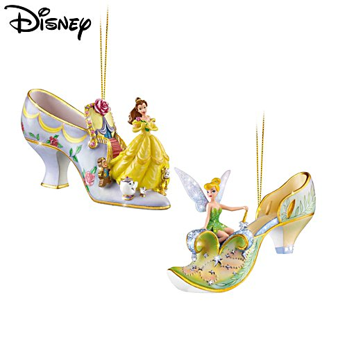 Disney 'Once Upon A Slipper' Christmas Ornament Set2