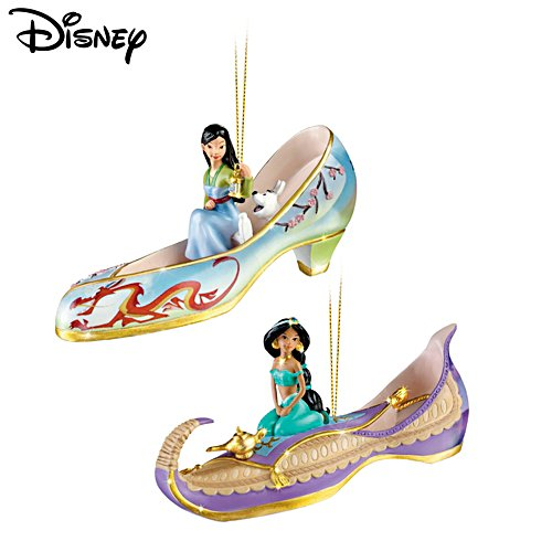 Disney 'Once Upon A Slipper' Christmas Ornament Set4