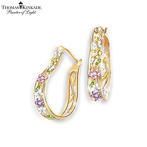 Thomas Kinkade 'Memories Of Beauty' Floral Earrings