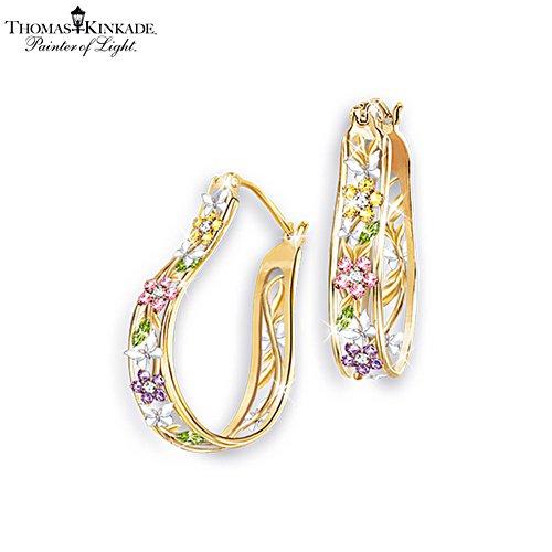 Thomas Kinkade 'Memories Of Beauty' Floral Earrings