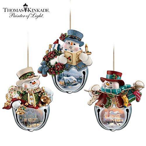 Thomas Kinkade 'Christmas Bells' Snowman Bell Ornaments