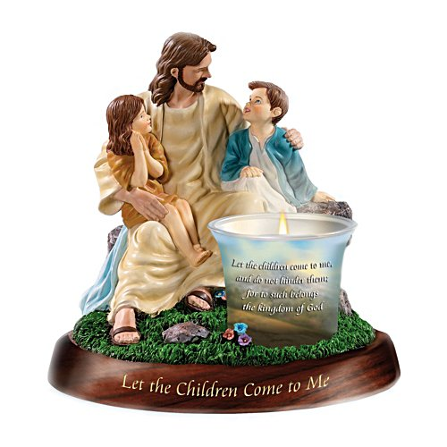'Let The Children Come To Me' Candleholder