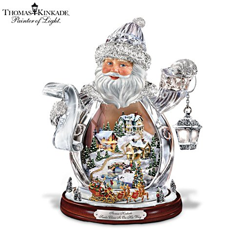 Thomas Kinkade 'Santa Claus Is On His Way' Figurine