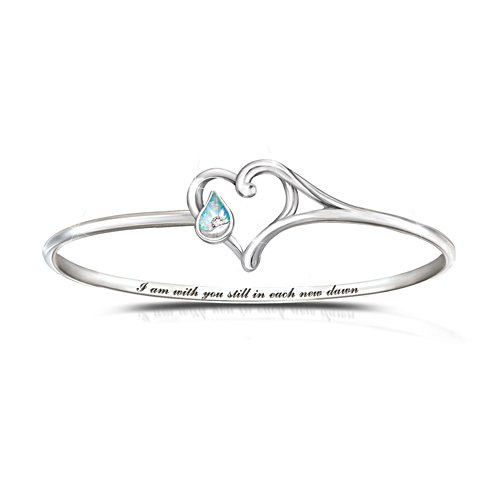 'I Am With You' Diamond And Created Opal Bracelet