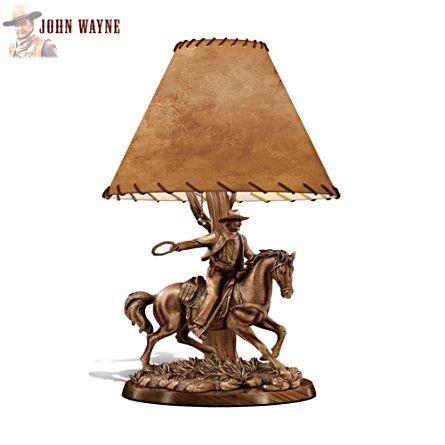 'American Legend' Sculptural John Wayne Table Lamp