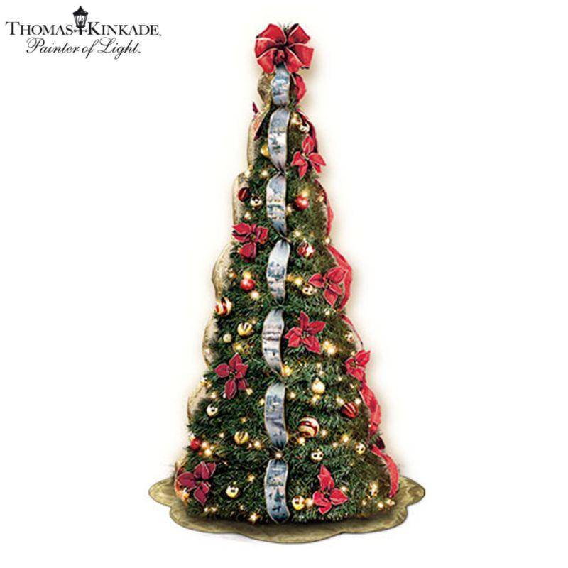 Thomas Kinkade U0027Wondrous Winteru0027 Pre Lit Pull Up Tree