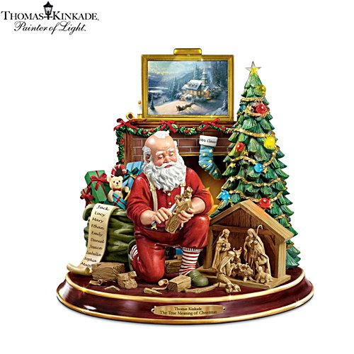 Thomas Kinkade 'The True Meaning Of Christmas' Figurine