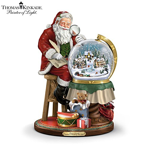 Thomas Kinkade 'Santa's Checking His List' Sculpture