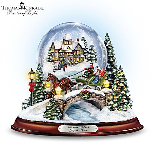 Thomas Kinkade 'Jingle Bells' Snowglobe