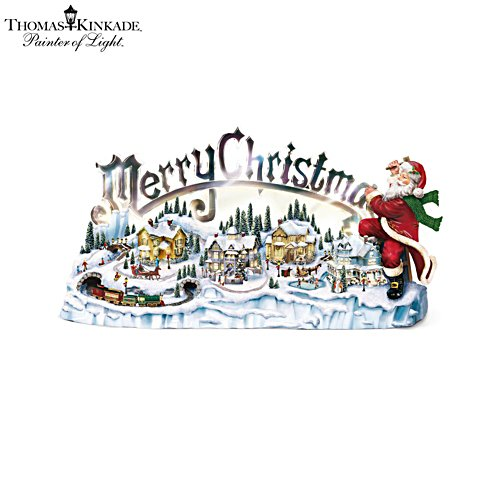 Thomas Kinkade 'Santa's Inspiration' Musical Figurine