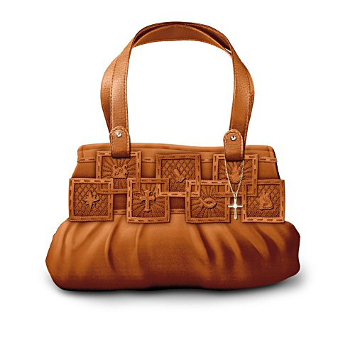 'Inspirations Of Faith' Embossed Faux Leather Handbag