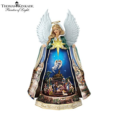 Thomas Kinkade Talking Angel Nativity Sculpture