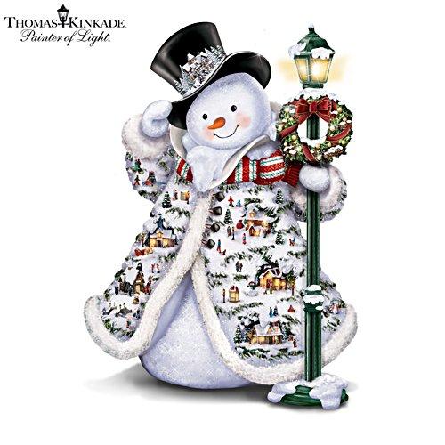 Thomas Kinkade 'Midwinter Magic' Lit Snowman Sculpture