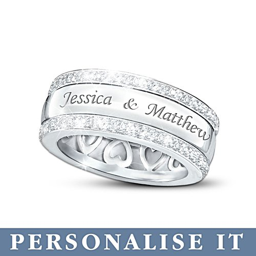 'Our Forever Love' Men's Personalised Diamond Ring