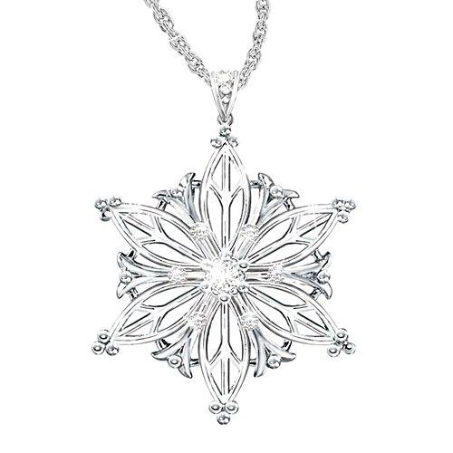 'Unique As A Snowflake' Granddaughter Diamond Pendant