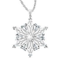 Diamond Snowflake Granddaughter Pendant