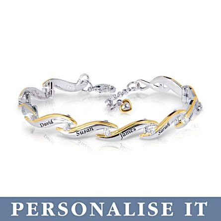 'Family Of Love' Personalised Diamond Bracelet