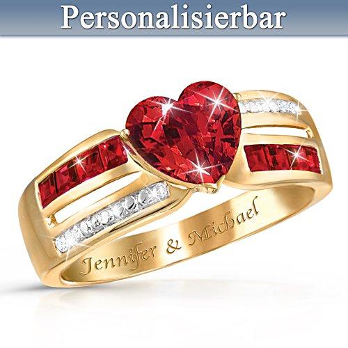 Herz der Liebe – Personalisierbarer Ring
