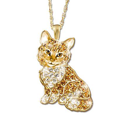 'Purr-fect Kitten' Swarovski® Crystal Pendant