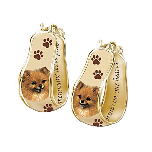 'My Loyal Pomeranian' Art Cuff Earrings