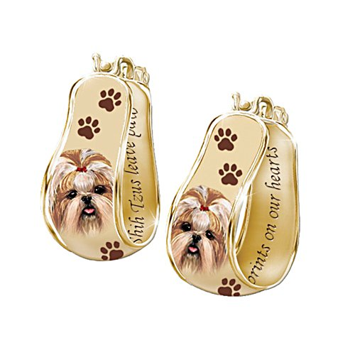 'My Loyal Shih Tzu' Art Cuff Earrings