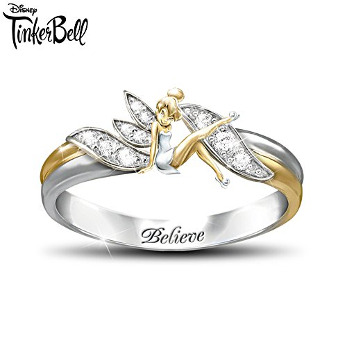 Disney 'Embrace The Magic' Tinker Bell Ladies' Ring