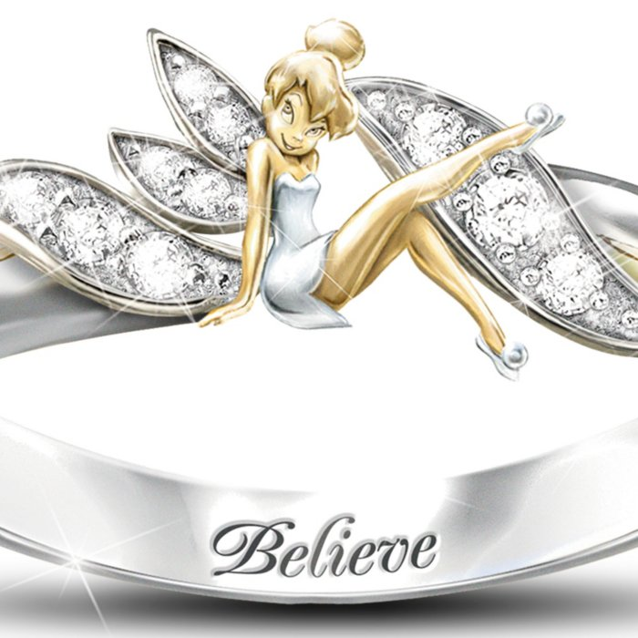 Disney Embrace The Magic Tinker Bell Ladies Ring