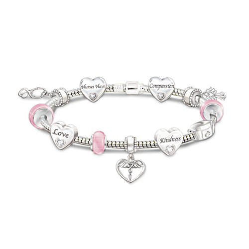 'A Nurse's Heart' Ladies' Swarovski® Crystal Bracelet