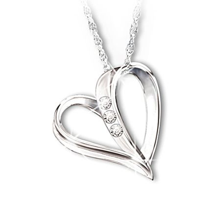 'My Daughter, My Heart, My Love' Diamond Pendant