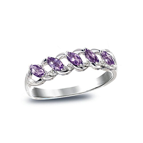 'Timeless' Amethyst And Diamond Ladies' Ring