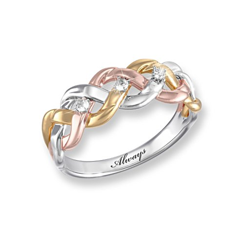 'Strength Of Our Faith' Tri-Colour Diamond Ring