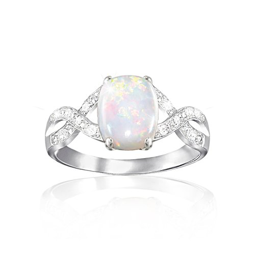 'Shimmering Elegance' Opal And Diamond Ring