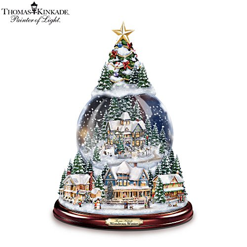 Thomas Kinkade 'Wondrous Winter' Illuminated Snowglobe
