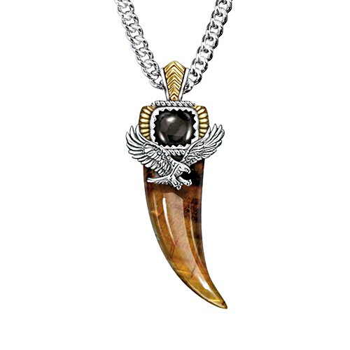 'Majestic Power' Tiger's Eye And Black Onyx Pendant