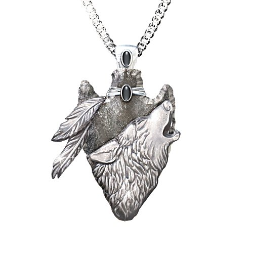 'Sacred Courage' Wolf Pendant
