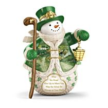 'When Irish Eyes Are Smiling' Snowman Figurine