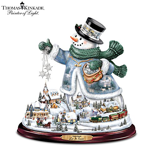 Thomas Kinkade 'Let It Snow' Tabletop Centrepiece