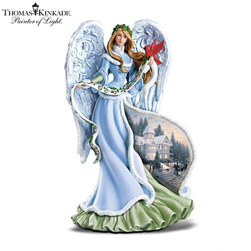 Thomas Kinkade 'Holly Angel' Illuminating Angel Figurine