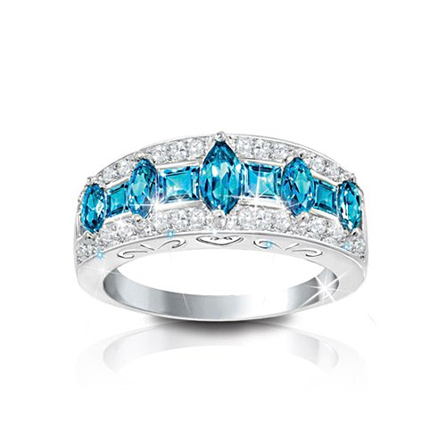 'Blue Rhapsody' Topaz And Diamond Ring