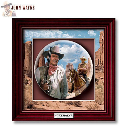 'John Wayne: True Patriot' Shadowbox Plate