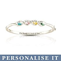 'Our Family Is A Circle Of Love' Personalised Bracelet