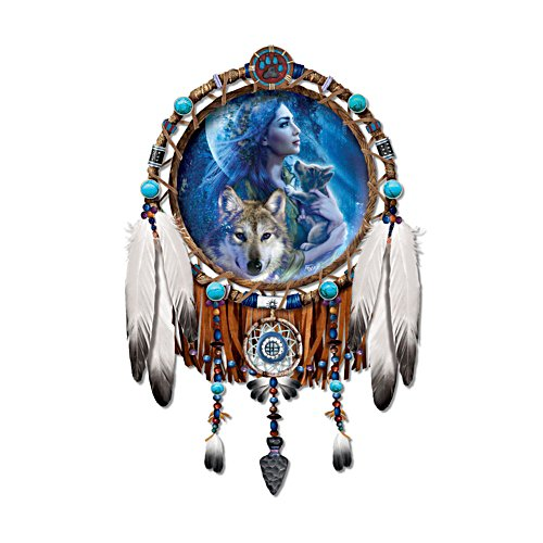 'Moonlight Vision' Wolf Collector Plate